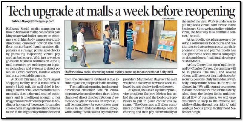 Malls reopen - Ambuja